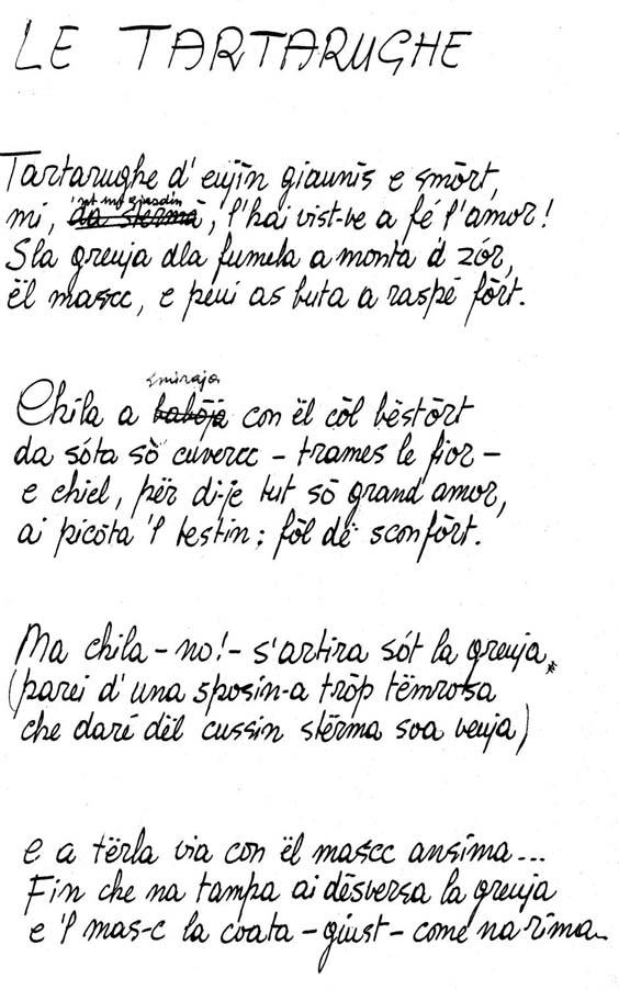 Manoscritto Olivero