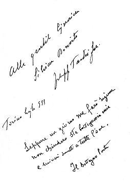 Dedica di Filippo Tartufari